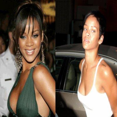 Rihanna sans maquillage - Rihanna avant apres ...